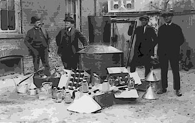 Fed Digital Art - Moonshine Still Prohibition 1922 by Daniel Hagerman