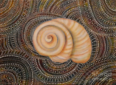 Painting - Moonsnail Mandala by Deborha Kerr