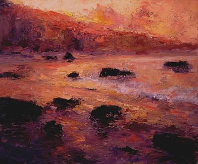 Moonstone Beach At Sunrise Original by R W Goetting