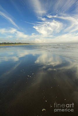 Beach Photograph - Moonstone Beach Reflections by Mike  Dawson