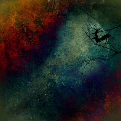 Imaginative Mixed Media - Moonstruck by Heike Hultsch