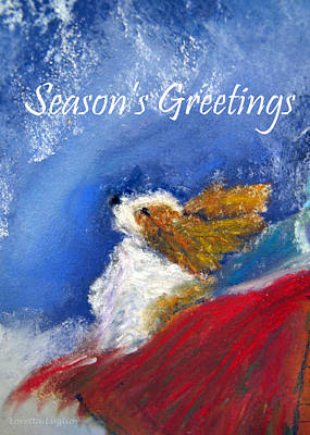 Painting - Moonstruck Holiday Card by Loretta Luglio