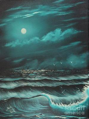 Painting - Moonstruck Ocean by Bob Williams