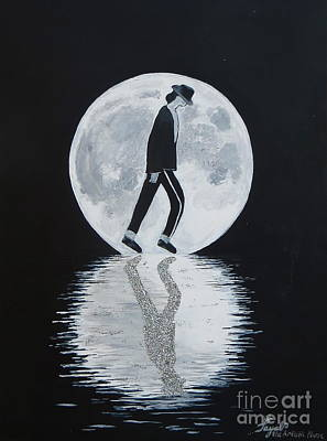 Painting - Moonwalker by Artistic Indian Nurse