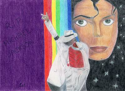 Drawing - Moonwalker by Bav Patel