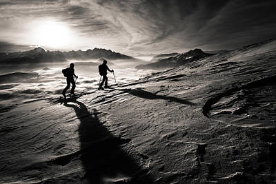 Winter Sunset Wall Art - Photograph - Moonwalkers by Sandi Bertoncelj