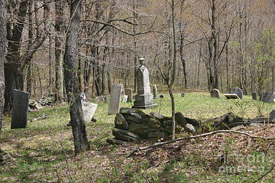 Photograph - Moore Cemetery Upstate New York by D Wallace