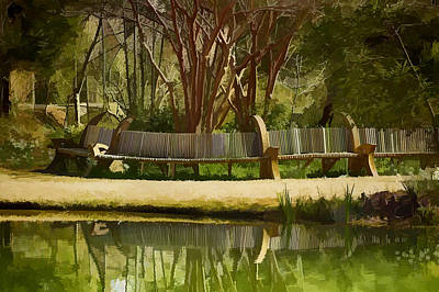 Digital Art - Moore Farms Pond by Bill Barber