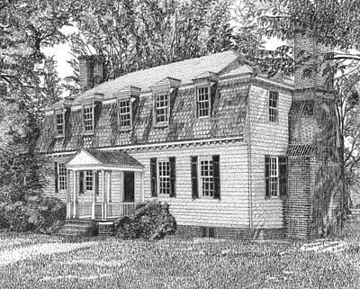 Moore House In Yorktown Virginia Original