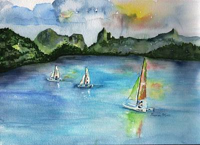Painting - Moorea French Polynesia Island by Sharon Mick