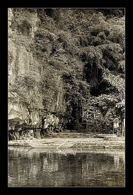 Photograph - Moored Boat By The River In Tam Coc by Weston Westmoreland