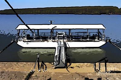 Moored Boat Art Print