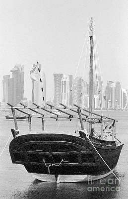 Photograph - Moored Dhow In Doha by Paul Cowan