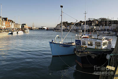 Photograph - Moored Fishing Boats by Doug Wilton