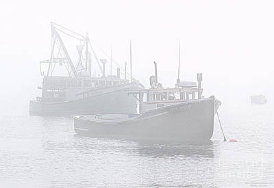 Photograph - Moored In Fog by Marty Saccone