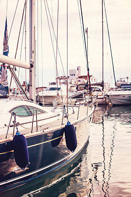 Photograph - Moored Yachts. For Yachts Lovers. Benalmadena Puerto Marina by Jenny Rainbow