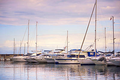 Photograph - Moored Yachts. For Yachts Lovers I. Benalmadena Puerto Marina by Jenny Rainbow