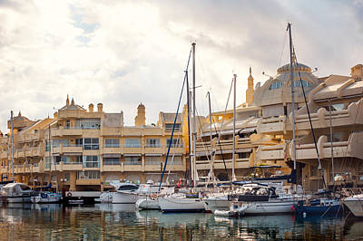 Photograph - Moored Yachts IIi. For Yachts Lovers. Benalmadena Puerto Marina by Jenny Rainbow