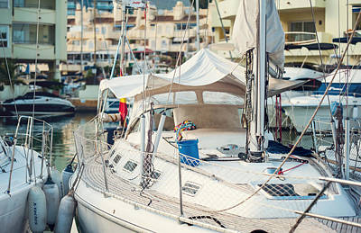 Photograph - Moored Yachts Iv. For Yachts Lovers. Benalmadena Puerto Marina by Jenny Rainbow