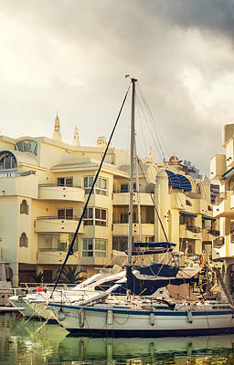 Photograph - Moored Yachts V. For Yachts Lovers. Benalmadena Puerto Marina by Jenny Rainbow