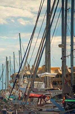 Photograph - Moored Yachts Vii. For Yachts Lovers. Benalmadena Puerto Marina by Jenny Rainbow