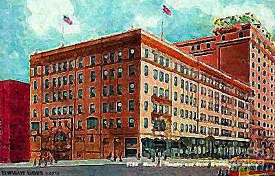 Painting - Moore's Theatre And Hotel In Seattle Wa 1910 by Dwight Goss