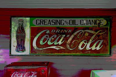 Coca-cola Signs Mixed Media - Mooresville Alabama by Charles Shoup