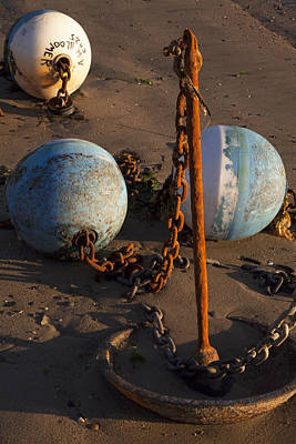 Photograph - Mooring And Buoys 1 by Charles Harden