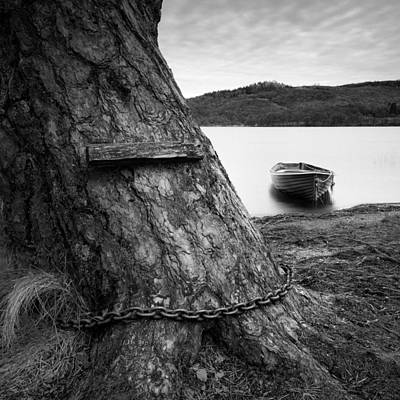 Wooden Boat Photograph - Mooring by Dave Bowman