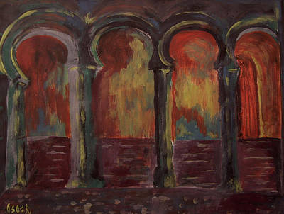 Painting - Moorish Arches II by Oscar Penalber