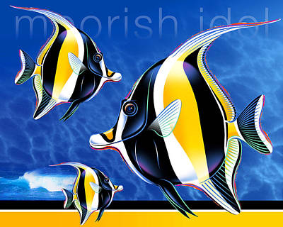 Moorish Digital Art - Moorish Idol by Michael Monaghan