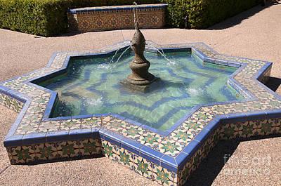 Photograph - Moorish Star Fountain by Brenda Kean