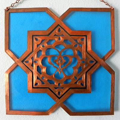 Mixed Media - Moorish Star Window Passage by Shahna Lax