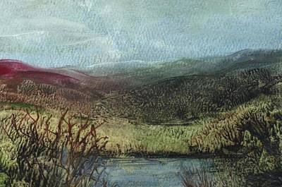 Painting - Moorland View 2 by Carol Rowland