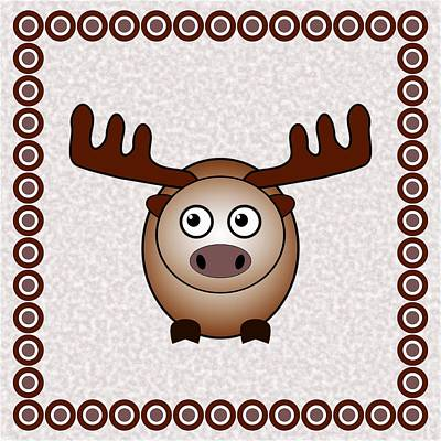 Digital Art - Moose - Animals - Art For Kids by Anastasiya Malakhova