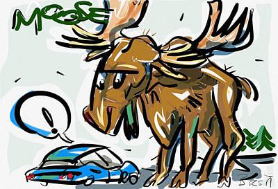 Moose Art Print by Brett LaGue