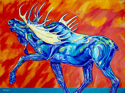 Russia Painting - Moose Call by Derrick Higgins