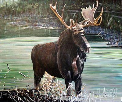 Moose County Art Print