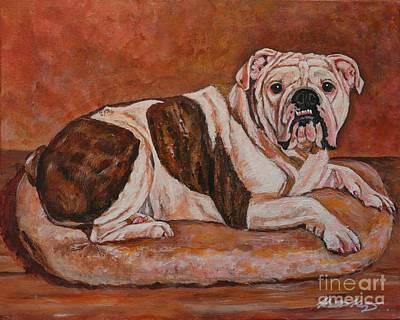 Painting - Moose-english Bull Dog by Heather Kertzer