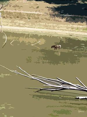 Moose In Lake Wild Nature Original by Tanya Sorth