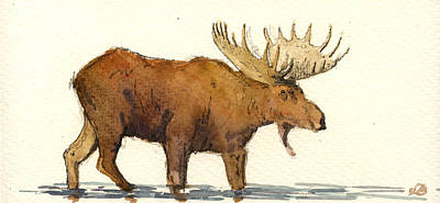 North America Painting - Moose by Juan  Bosco