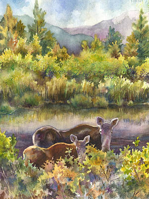 Nederland Painting - Moose Magic by Anne Gifford
