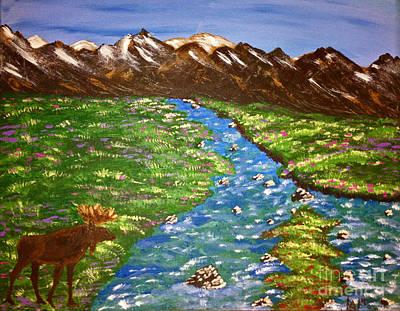Maine Meadow Painting - Moose Meadow by Lloyd Alexander