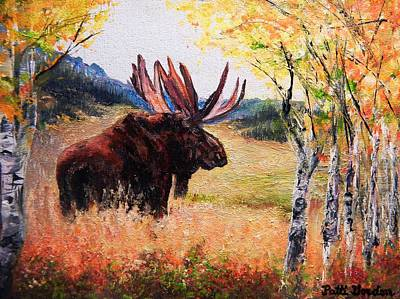 Painting - Moose Rut by Patti Gordon