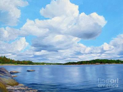 Moose Sighting Over The Bay Original by Rosemarie Morelli