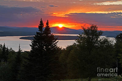 Photograph - Mooselookmeguntic Sunset by Butch Lombardi