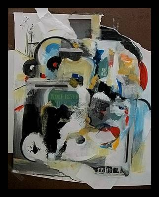 Painting - Moped by John L Campbell