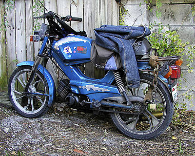 Print featuring the photograph Moped Madness by Steve Sperry
