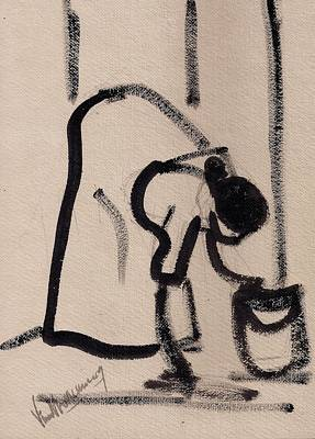Mop Painting - Mopping by Vineeth Menon