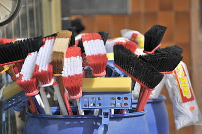 Photograph - Mops And Brooms by Douglas Pike
